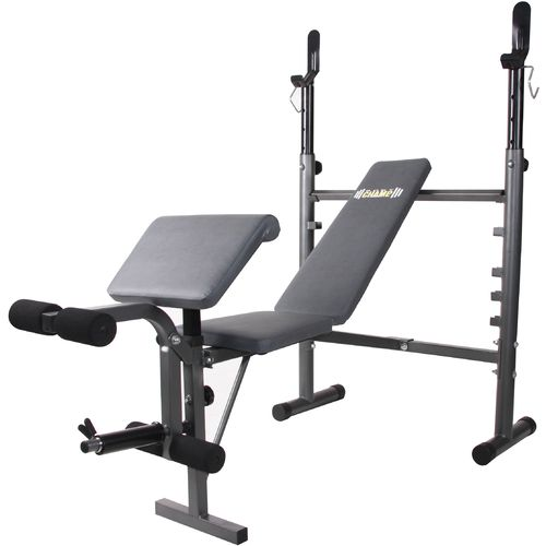 Body Champ Midwidth Weight Bench with Preacher Curl and Leg Developer