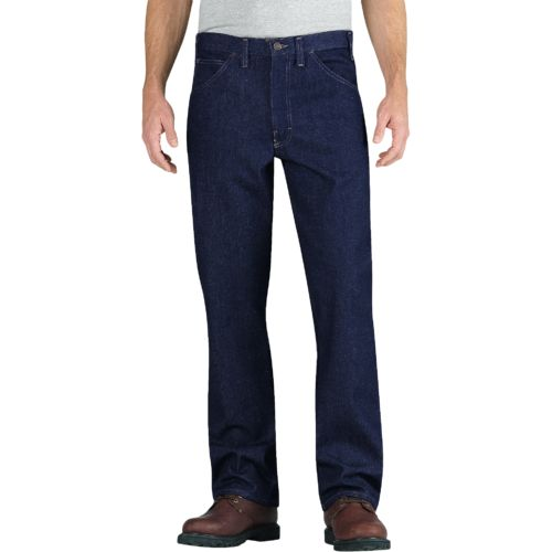 Dickies Men's Relaxed Fit Straight Leg Flame Resistant 5 Pocket Jean