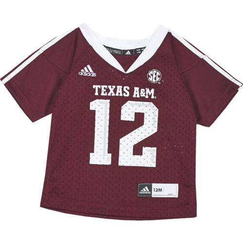 adidas™ Infants' Texas A&M University #12 Team Color Replica Jersey
