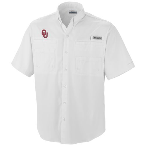 Columbia Sportswear Men's NCAA Tamiami Short Sleeve Fishing Shirt
