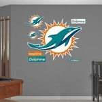 Fathead Miami Dolphins Logo and Team Decals 7-Pack