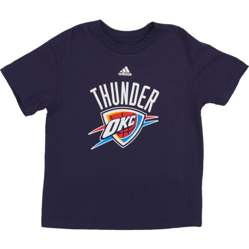 adidas™ Boys' Oklahoma City Thunder Primary Logo Short Sleeve T-shirt