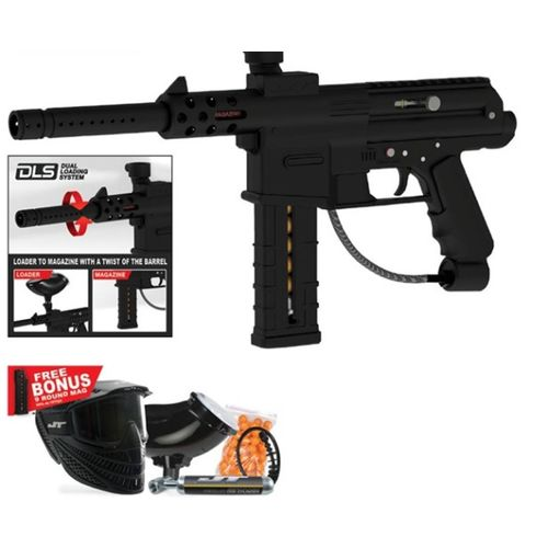 JT Paintball DL9 RTP Semiautomatic Paintball Marker Kit