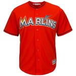 Majestic Men's Miami Marlins Giancarlo Stanton #27 Cool Base® Alternate Jersey - view number 2