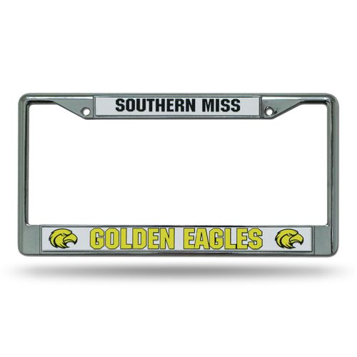 Rico University of Southern Mississippi Chrome License Plate