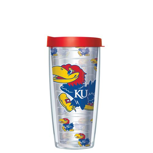 Signature Tumblers University of Kansas 16 oz. Repeated Pattern Traveler Insulated Tumbler
