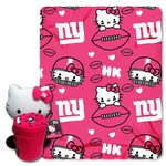 The Northwest Company New York Giants Hello Kitty Hugger and Fleece Throw Set