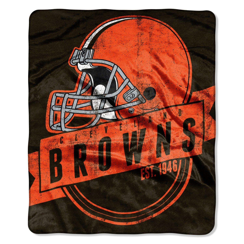 The Northwest Company Cleveland Browns Grandstand Raschel Throw