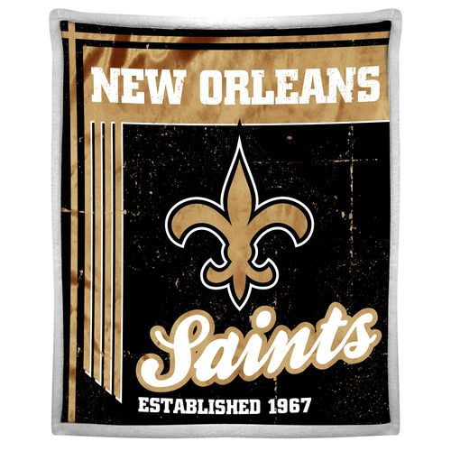 The Northwest Company New Orleans Saints Old School Mink with Sherpa Throw