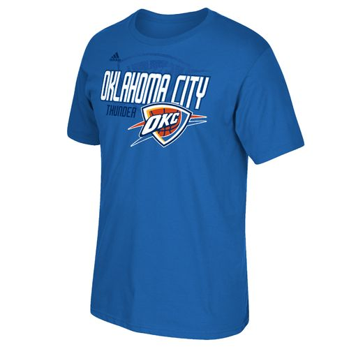 adidas Men's Oklahoma City Thunder Tip Off Distressed Back Logo T-shirt