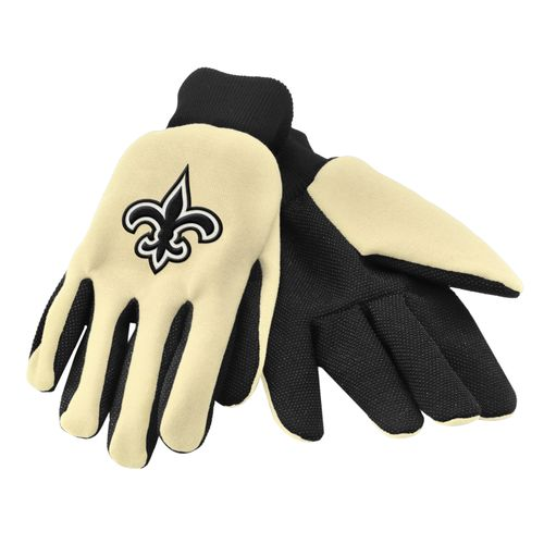 Team Beans Adults' New Orleans Saints 2-Color Utility Gloves