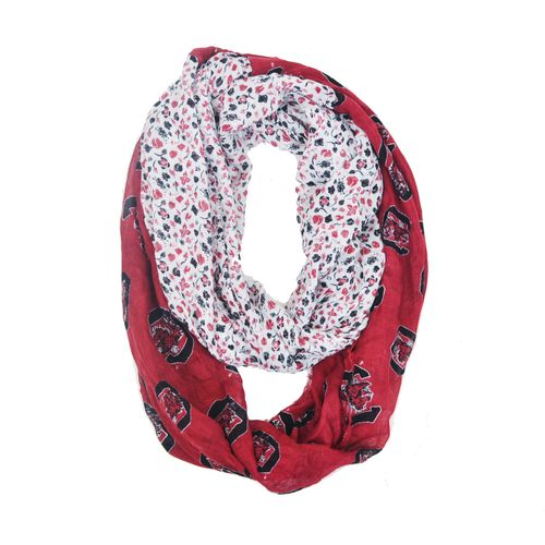 ZooZatz Women's University of South Carolina Flower Infinity Scarf