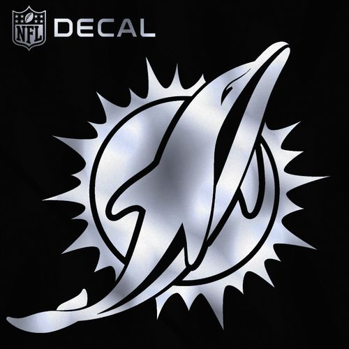 Stockdale Miami Dolphins Metallic Decal