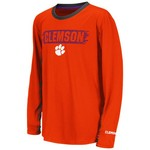 Colosseum Athletics Boys' Clemson University Oil Slick Kicker T-shirt