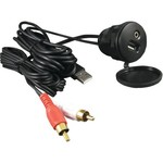Dual® IP35U SB Marine-Rated RCA and USB Adapter