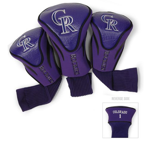 Team Golf Colorado Rockies Contour Sock Head Covers 3-Pack