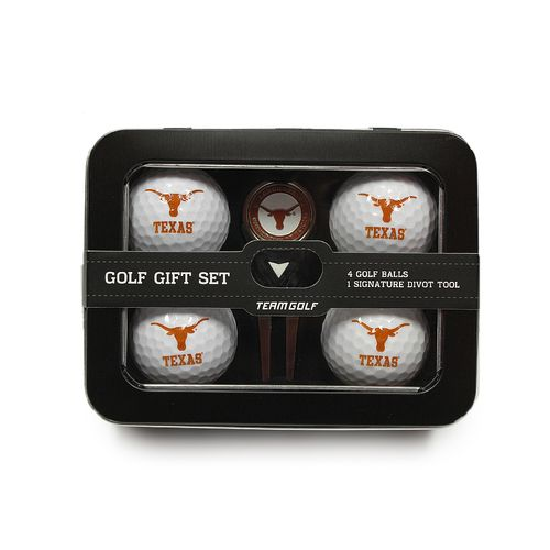 Team Golf University of Texas 4-Ball Tin Gift Set