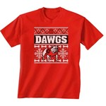 New World Graphics Women's University of Georgia Ugly Sweater T-shirt
