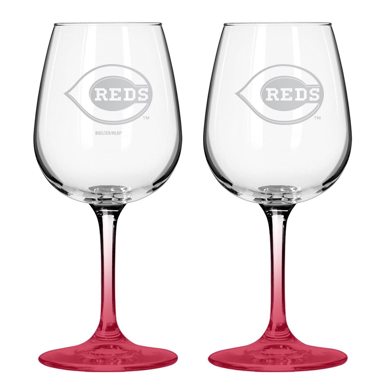 Boelter Brands Cincinnati Reds 12 oz. Wine Glasses