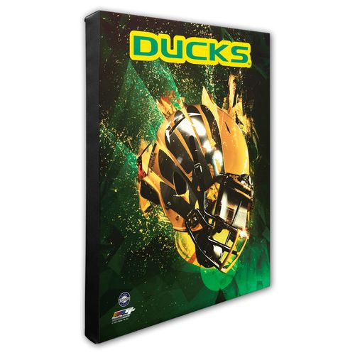 Photo File University of Oregon Helmet Stretched Canvas Photo - view number 1