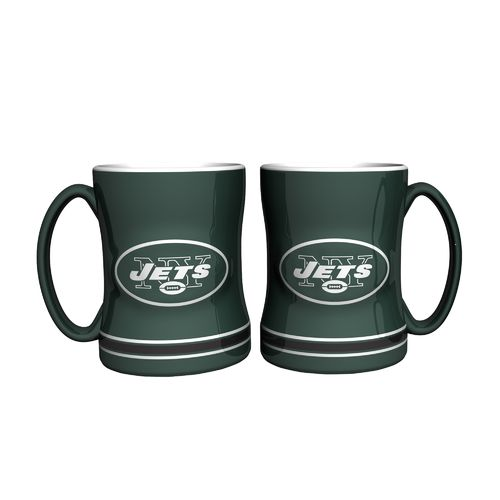 Boelter Brands New York Jets 14 oz. Relief Mugs 2-Pack