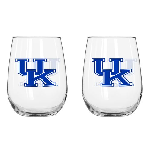Boelter Brands University of Kentucky 16 oz. Curved Beverage Glasses 2-Pack