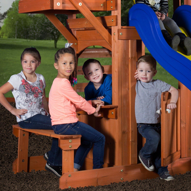 Backyard Discovery™ Peninsula Wooden Swing Set - view number 4