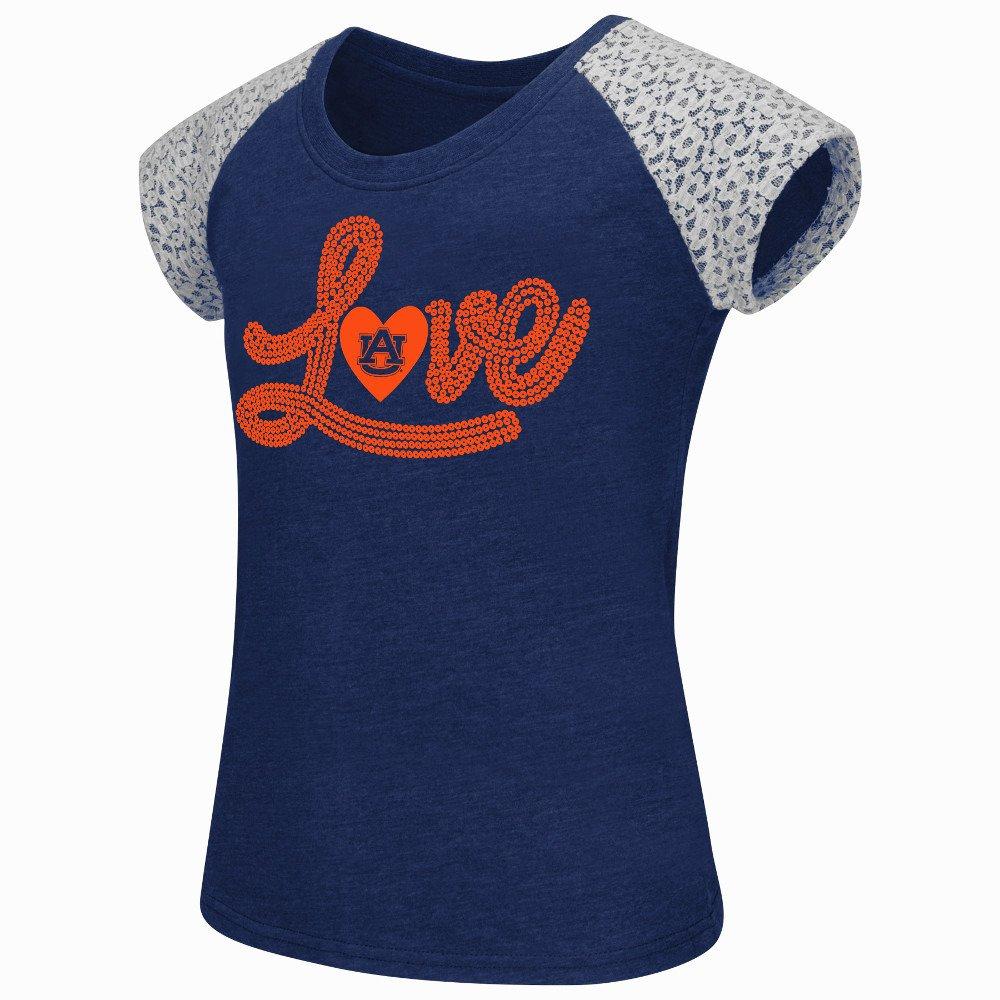 Colosseum Athletics Girls' Auburn University All About That Lace T-shirt