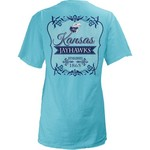 Three Squared Juniors' University of Kansas Flora T-shirt