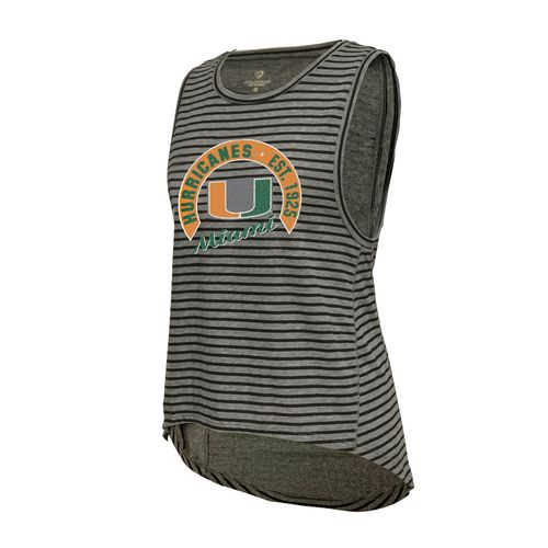 Colosseum Athletics Women's University of Miami Stay In Your Lane Tank Top