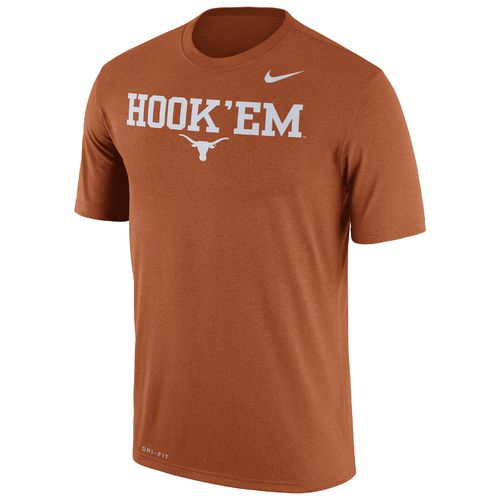 Nike Men's University of Texas Legend Dri-FIT Short Sleeve T-shirt - view number 1