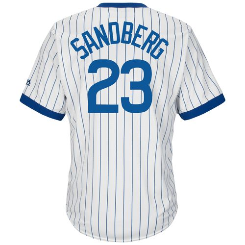 Majestic Men's Chicago Cubs Ryne Sandberg #23 Cooperstown Cool Base 1968-69 Replica Jersey