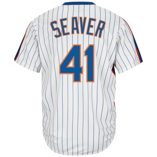 Majestic Men's New York Mets Tom Seaver #41 Cooperstown Cool Base 1986 Replica Jersey - view number 1