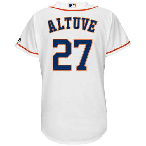 Majestic Women's Houston Astros José Altuve #27 Cool Base Replica Home Jersey - view number 1
