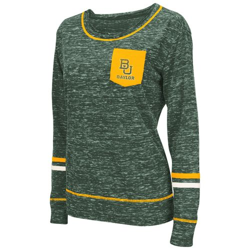 Colosseum Athletics™ Women's Baylor University Homies Raw Edge Pocket T-shirt