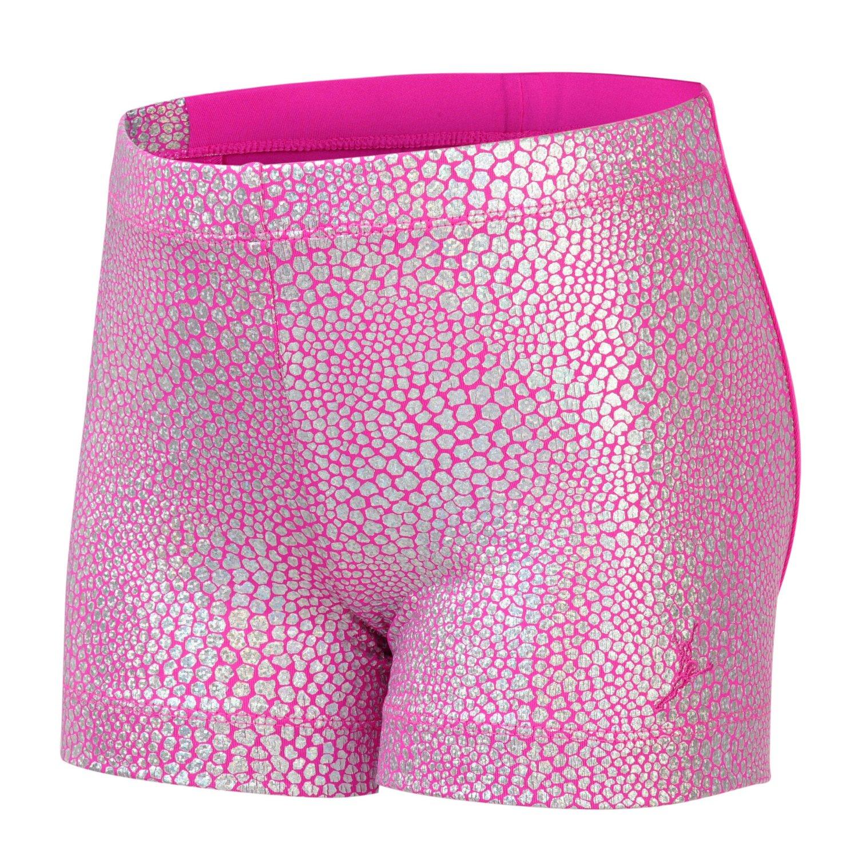 Capezio® Girls' Future Star Mosaic Foil Front Glitter Short