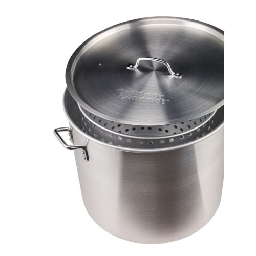Display product reviews for Outdoor Gourmet 80 qt. Aluminum Pot with Strainer