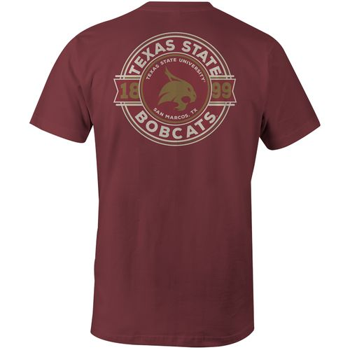 Image One Men's Texas State University Rounds Comfort Color Short Sleeve T-shirt
