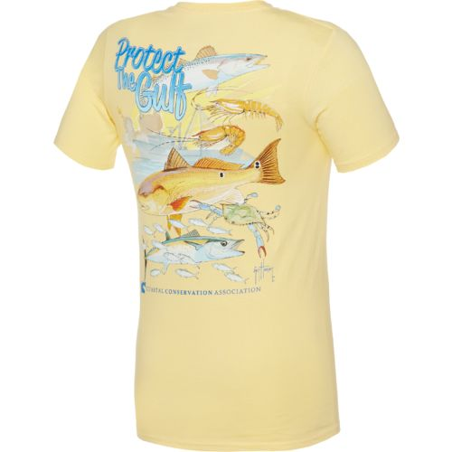 Guy Harvey Men's CCA Protect the Gulf Pocketed T-shirt