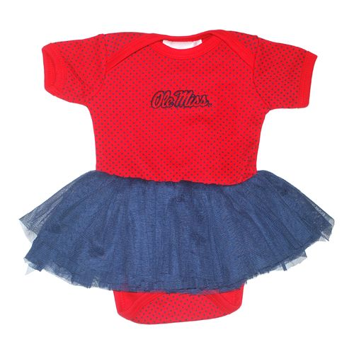 Two Feet Ahead Infant Girls' University of Mississippi Pin Dot Tutu Creeper
