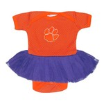 Two Feet Ahead Infant Girls' Clemson University Pin Dot Tutu Creeper