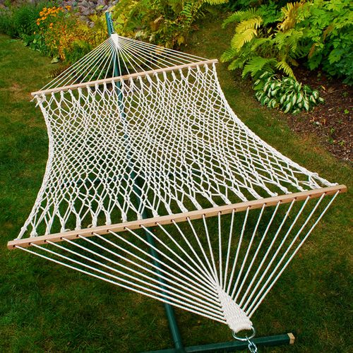 Algoma 2-Point Double Size Cotton Rope Hammock