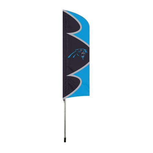The Party Animal Carolina Panthers Swooper Feather Flag