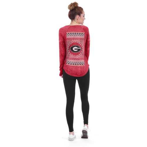 Chicka-d Women's University of Georgia Favorite V-neck Long Sleeve T-shirt
