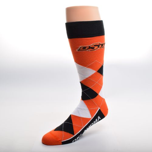 FBF Originals Adults' Oklahoma State University Team Pride Flag Top Dress Socks