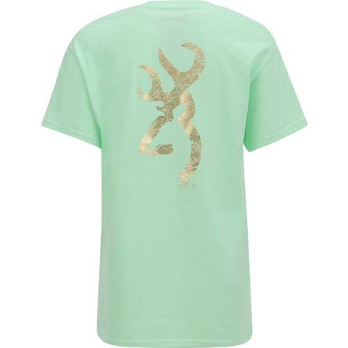 Display product reviews for Browning Women's Gold Crinkle Foil Buckmark T-shirt