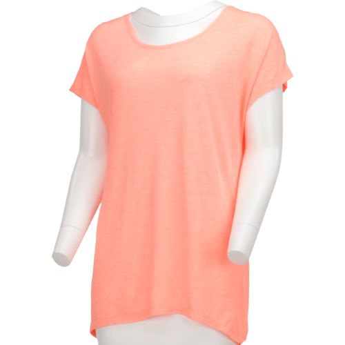 BCG Women's Lifestyle Twisted Short Sleeve Pocket Dolman Top