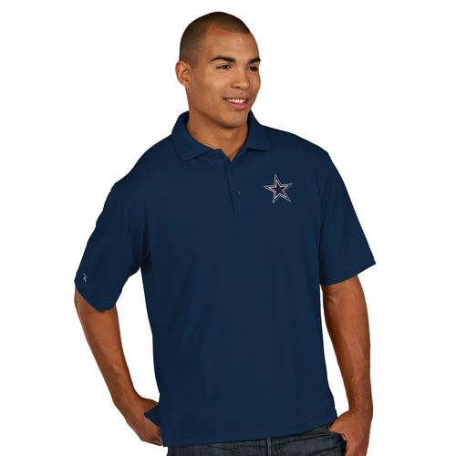 Antigua Men's Dallas Cowboys Piqué Xtra Lite Polo Shirt