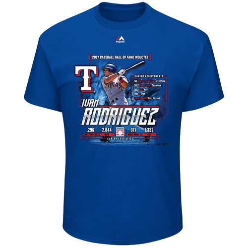 Majestic Men's Texas Rangers Ivan Rodriguez Hall of Fame '17 T-shirt
