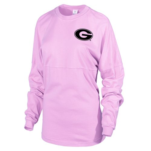 Venley Women's University of Georgia Hawaiian Spirit Long Sleeve Football T-shirt - view number 2